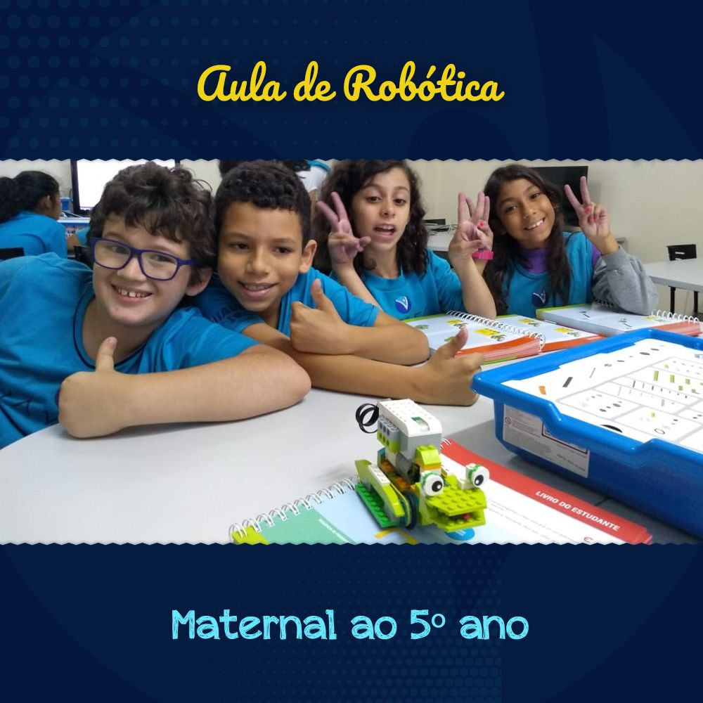 Aula Robótica do Maternal ao 9º Ano